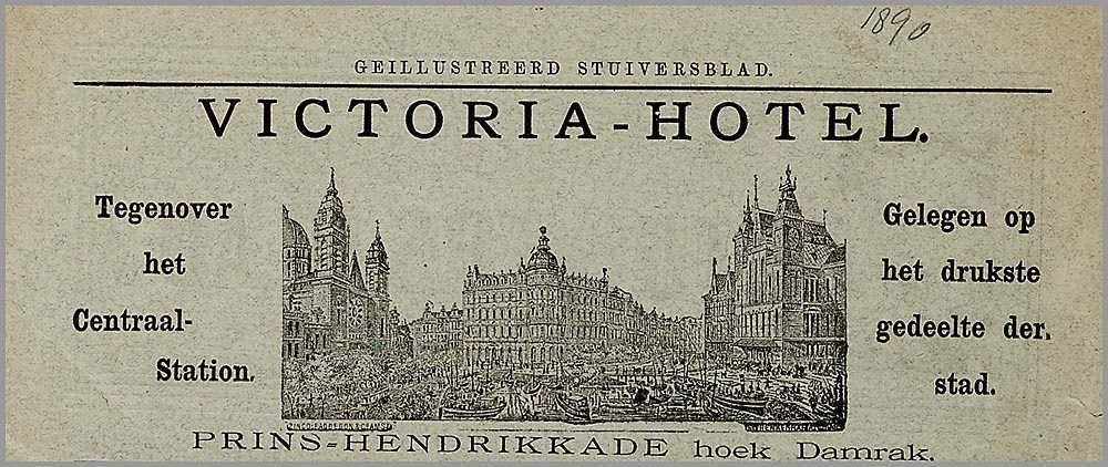 Onbekend, Reclame Victoria Hotel