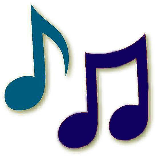 Van Clipart muzieknoten — Hart A...