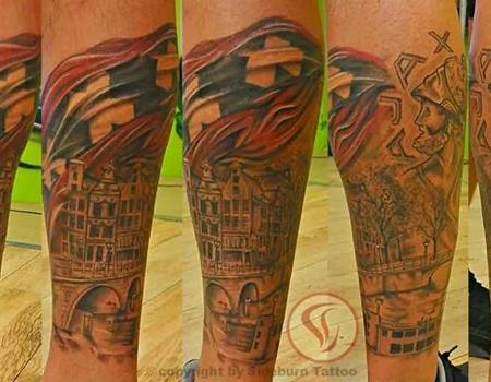 Ajacied in hart en nieren hart amsterdammuseum for Tattoo amsterdam walk in
