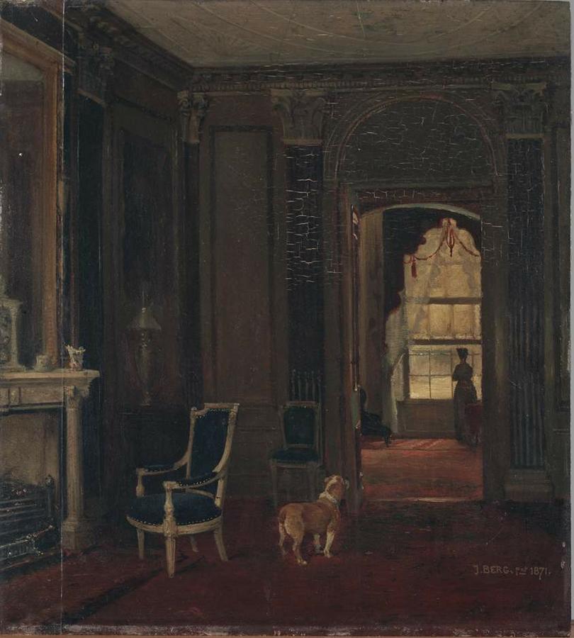 Kamer uit een grachtenhuis 1802 hart amsterdammuseum - Kamer schilderij ...