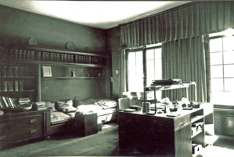 studeerkamer weteringschans 41 foto circa 1930