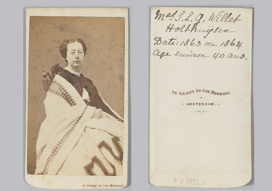 Carte De Visite Louisa Willet Holthuysen 1863 64