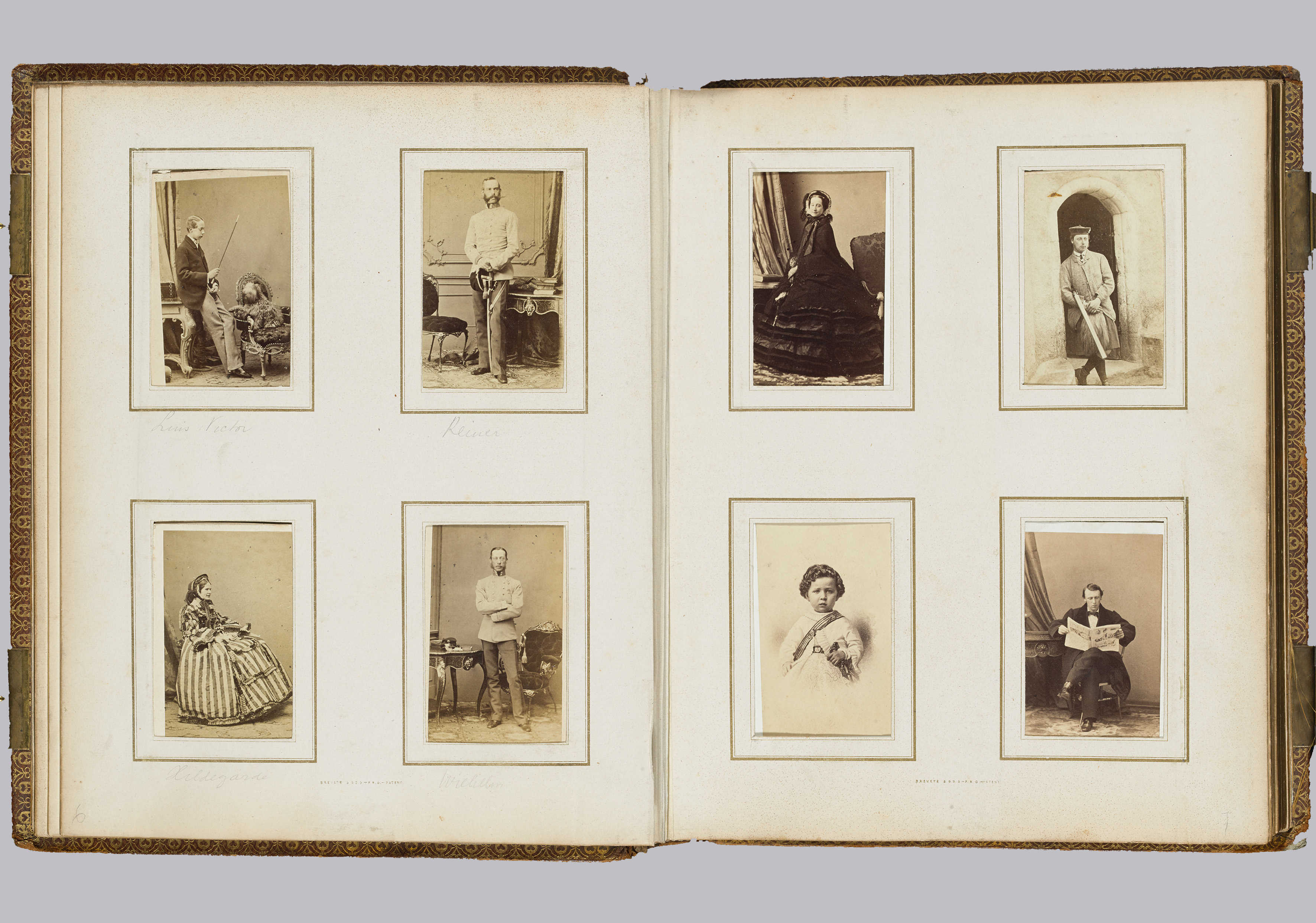 Dubbele Pagina Uit Het Grote Album Van Abraham Willet Ca 1860 1880