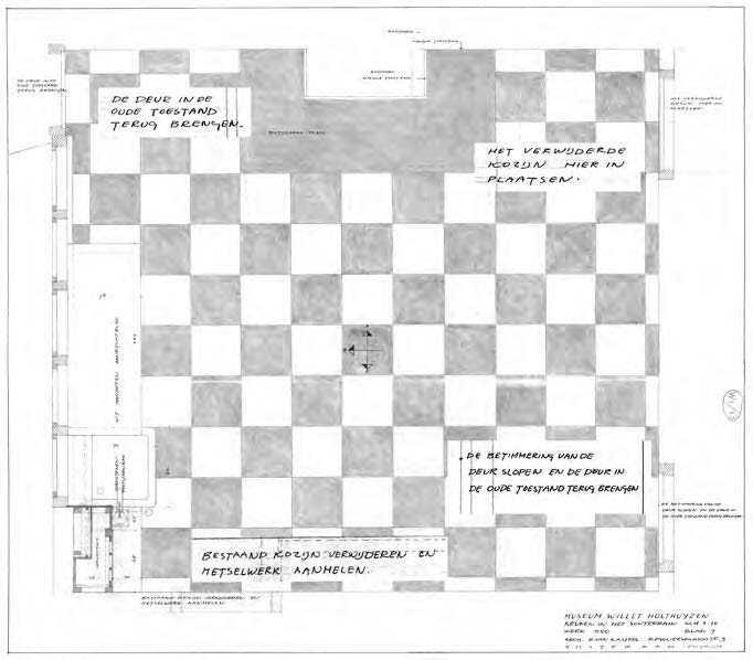 Afb. 37 plattegrond keuken, B. van Kasteel. Hierin zijn elementen van ...