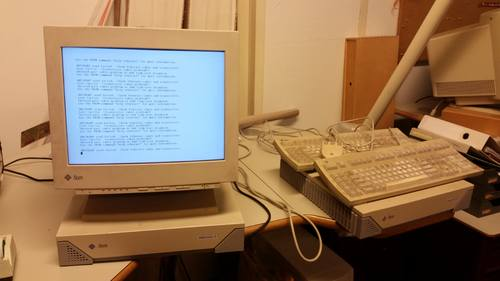 Digitale 'graafmachine': Sparcstation