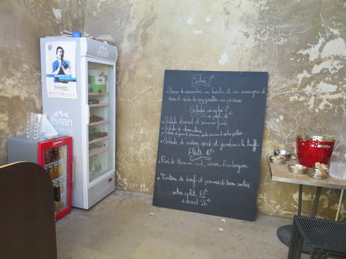 Menu of the restaurant and poster
