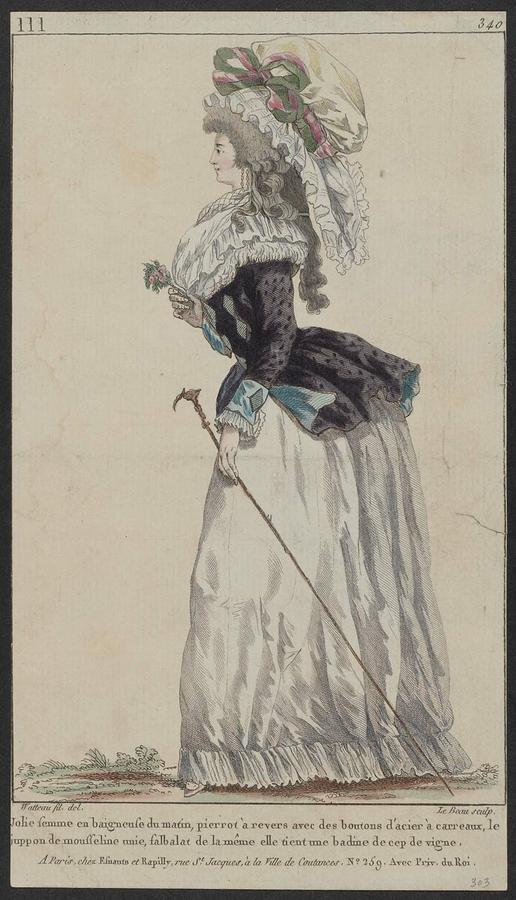 In de tweede helft van de 18e eeuw droegen vrouwen zijden