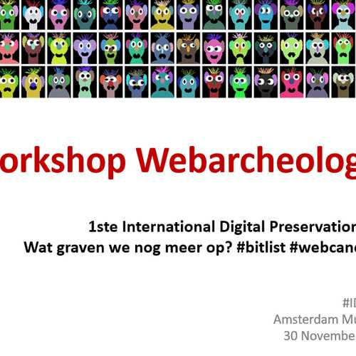 Workshop Do It Yourself Webarcheologie