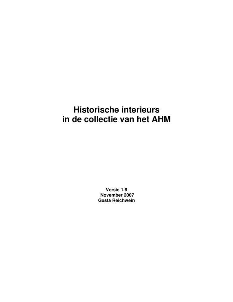 Historische interieurs — Hart Amsterdammuseum