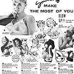 Opblaasbare BH advertentie, ca. 1960, Frederick's of Hollywood Holiday. Bron: Pinterest