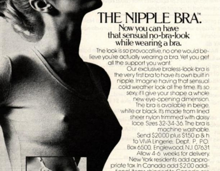 'The Nipple Bra' advertentie, ca. 1970