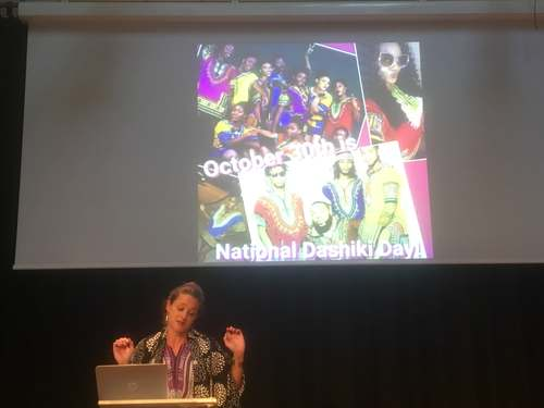 Marleen de Witte over dashiki's, congres Popular Culture, 8 november 2018, Theater Perdu, Amsterdam