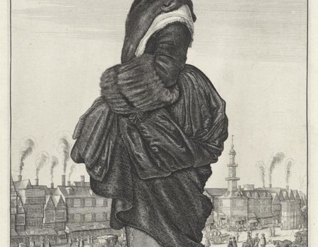 Winter, De vier seizoenen (serietitel), Wenceslaus Hollar, 1643, collectie Rijksmuseum