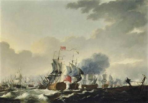 Hendrik Kobell, The Battle of Barfleur, ca. 1771-1779.