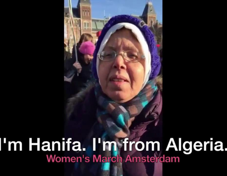 Hafina and Siddiq: from Algeria marching in The Netherlands